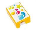 Pencil Sharpeners-(Pack of 5) Square Yellow Music Notes