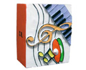 Pen Holder-Orange Clef