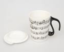 Mug with Lid-Musical Notes