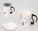 Mug with Lid-Clefs