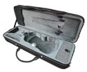 TG Oblong Violin.Case-Lightweight-Black/Grey 3/4
