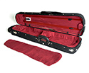 HQ Shaped Violin Case- Wood Shell Black/Wine Suede