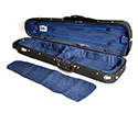 HQ Shaped Violin Case- Wood Shell Blk/Blue