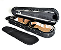 HQ Shaped Violin Case- Lightweight Pro Black/Tan