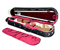 HQ Shaped Violin Case- Lightweight Pro Black/Wine&Tan