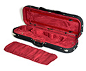 Oblong Violin Case-HQ Lightweight-Black/Wine