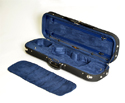 Oblong Violin Case-HQ Lightweight-Black/Blue