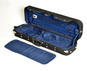 Oblong Violin Case-HQ Woodshell-Blk/Blue