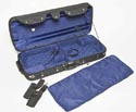 HQ Double Violin Case-Woodshell Blk/Blue