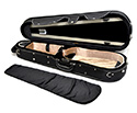 Shaped Viola Case-HQ Lightweight-Black/Black&Tan