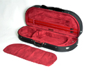 Half Moon Viola Case - HQ Lightweight Black/Wine 16in
