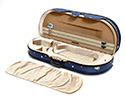 Half Moon Viola Case - HQ Lightweight Deluxe Blue/Tan 16in