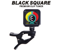 J&H BLACK SQUARE Premium Colour LED Clip Tuner