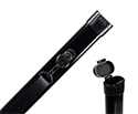 Bow Tube-TG Aluminium-Violin or Cello. Black