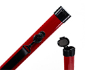 Bow Tube-TG Aluminium-Violin or Cello. Red