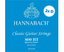 Hannabach Classical Set-Silv.800DD (2Ds) Blue High T