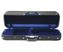 Oblong Violin Case-Bobelock Regular Blk/Blue