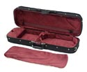 Oblong Violin Case-Bobelock Regular Blk/Wine