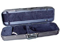 Oblong Violin Case-Bobelock Student Grey/Maroon