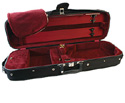 Oblong Violin Case-Bobelock Student Black/Maroon