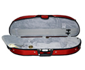 Half Moon Violin Case-Bobelock- Puffy-Red/Grey