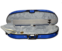 Half Moon Violin Case-Bobelock- Puffy-Blue/Grey