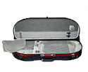 Half Moon Viola Case-Bobelock Fibreglass-Red