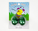 Egg Shakers Double Eggs on Card (Pair) Green