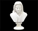 Bust 15cm-Crushed Marble Bach
