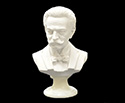 Bust 22cm-Crushed Marble J.Strauss